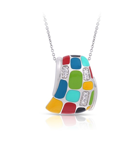 Belle Etoile - Mosaica_Multicolor_Pendant.jpg - brand name designer jewelry in Fernandina Beach, Florida