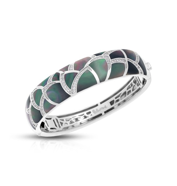 Belle Etoile - Sirena_Black_MotherofPearl_Bangle.jpg - brand name designer jewelry in Fernandina Beach, Florida