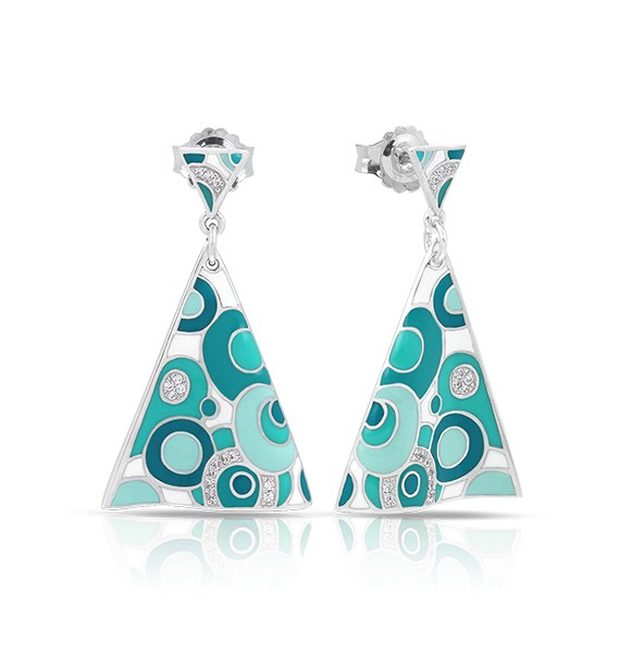 Belle Etoile - Groovy_White__Aqua_Earrings.jpg - brand name designer jewelry in Fernandina Beach, Florida
