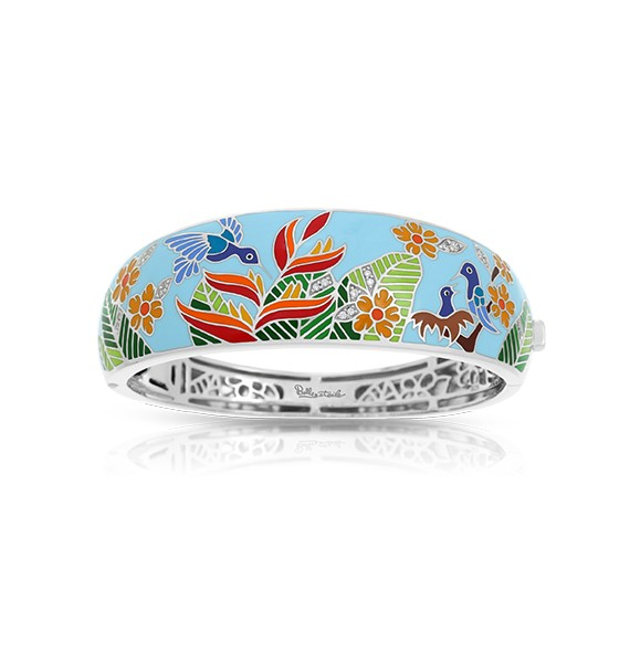 Belle Etoile - Hummingbird_Sky_Blue_Bangle.jpg - brand name designer jewelry in Fernandina Beach, Florida